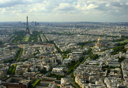 overhead view of Paris, France Stock Photo