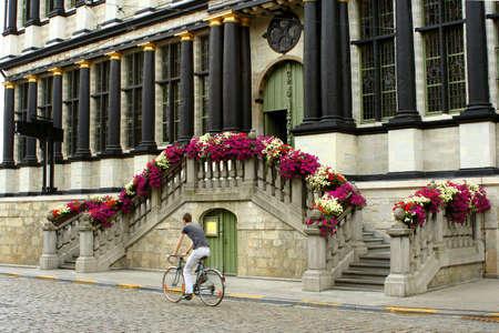 decorative stairway in Gent, Belgium
