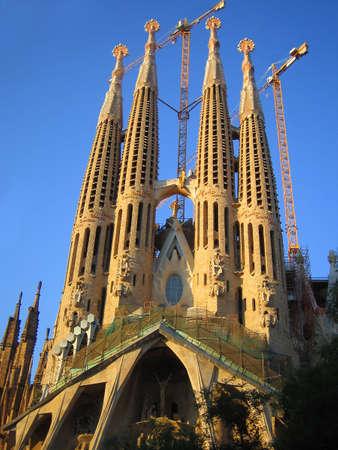 sagrada: familia sagrada in Barcelona, Spain Editorial