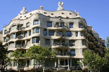 casa: Gaudis Casa Mila in Barcelona, Spain Stock Photo