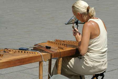 Spanish street musician in Barcelona, Spain