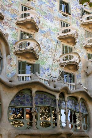 barcelona spain: Gaudis Casa Battlo in Barcelona, Spain