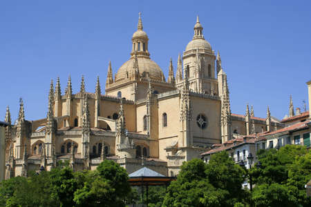 segovia: View of Segovia Cathedral Stock Photo