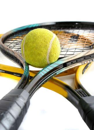 tennisbal en racquet