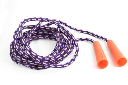kids isolated jump rope Stock Photo