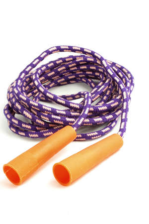 cardiovascular workout: kids isolated jump rope Stock Photo