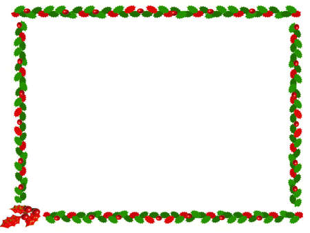 holly christmas border Stock Photo - 524118