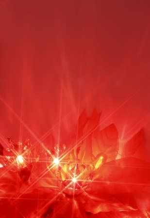 abstract twinkiling poinsettia christmas lights Stock Photo - 524083