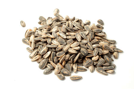 shelled: shelled sunflower seeds in a pile Stock Photo