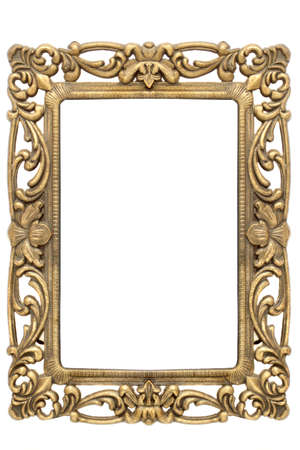 gold metal: gold frame with intricate ornate gold designs