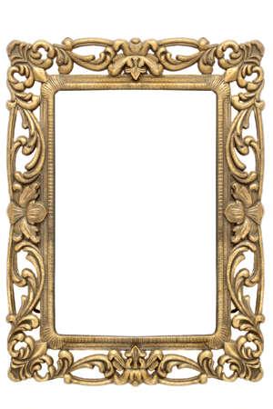 goud frame met ingewikkelde versierde goud ontwerpen Stockfoto