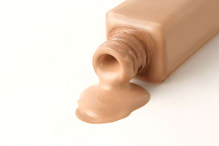 foundation face makeup spilling out from bottle