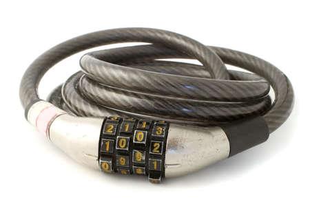a sturdy  combination bike lock made of steel