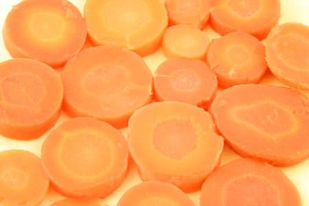 carotene: pile of cooked carrots full of beta carotene