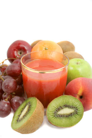 variety of fruit and freshly made  juice