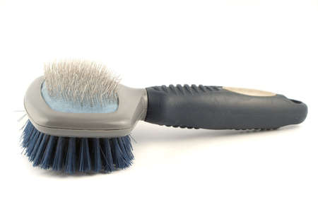 grooming: dog grooming brush with soft and hard bristles