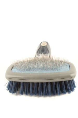 bristles: dog grooming brush with soft and hard bristles