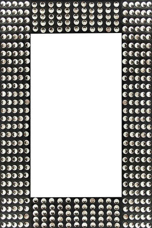 shiny silver studded fashionable frame border