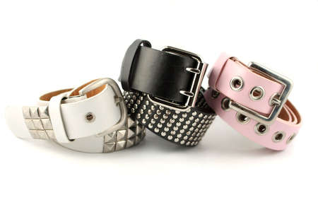 accessorize: shiny silver studded modern fashionable belt buckles