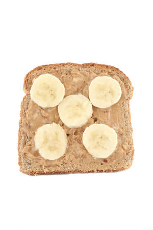 wheat toast: peanut butter and banana whole wheat toast