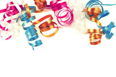 party favors: colorful festive curled up ribbon good for background or border
