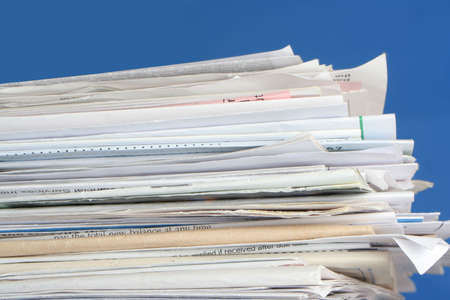 due: a stack of due  monthly bill payments
