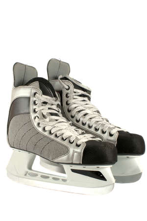 pair of mens winter ice hockey skates Stock Photo