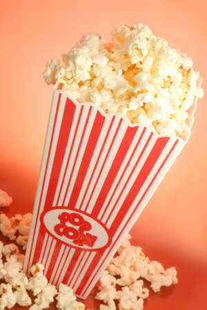 bucket of warm  and delicious microwave popcorn Stock Photo - 624891