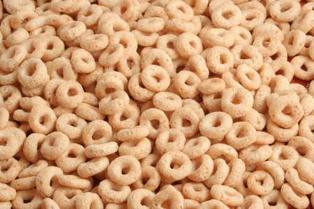 a closeup of toasted golden oats cereal Reklamní fotografie