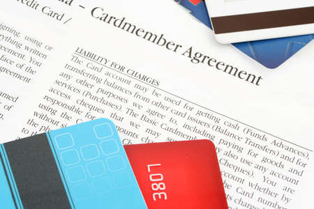 a credit card financing agreement from the bank Stock Photo - 638285