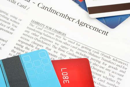 questionaire: una tarjeta de cr�dito convenio de financiaci�n del banco
