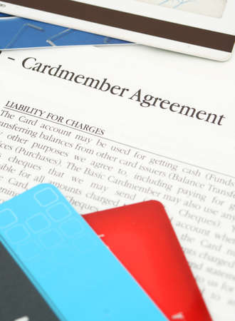 a credit card financing agreement from the bank Stock Photo - 638286
