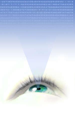 parpados: flotante blue eye ilustraci�n y buscar la proyecci�n de n�meros