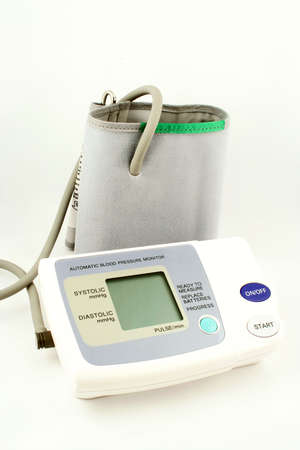 systolic: automatic blood pressure, and beat monitor Stock Photo