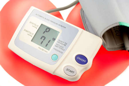 systolic: automatic blood pressure monitor showing heart beats per minute