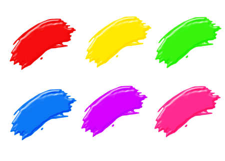 artistry: paint brush strokes in all different colors