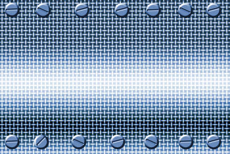 blue metal mesh  background with bolts in corners Stock Photo - 688187