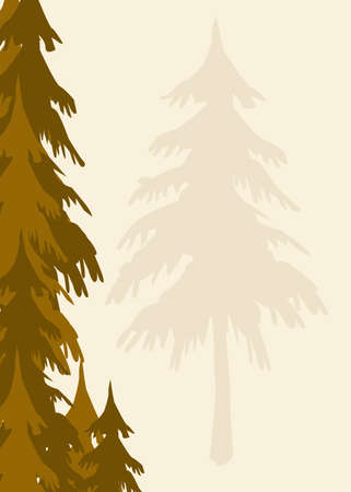 an evergreen trees background appropriate for stationary Banco de Imagens - 688168