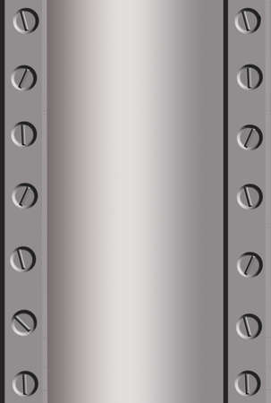 alloy: silver metal background with bolts in edges