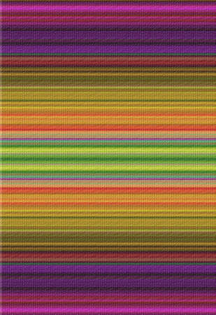 a rainbow colored knitted textured linear background