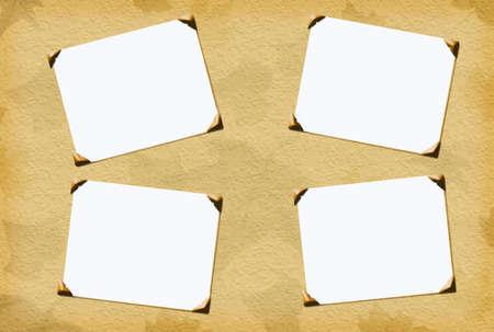 Fall saisonniers inserts photo en blanc avec des coins arrondis pour le scrapbooking Banque d'images - 701803