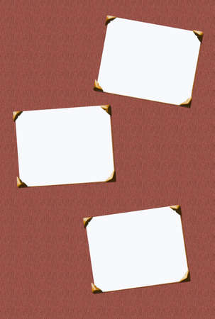 inserts: classic blank photo inserts with corners for scrapbooking  Stock Photo
