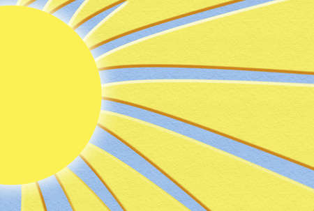 sun and its rays appropriate for stationary or background Banco de Imagens
