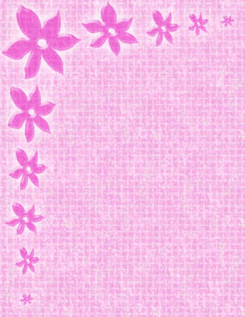 a feminine pink background with flower borders