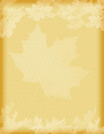 vintage styled brown  leaves motif paper background photo
