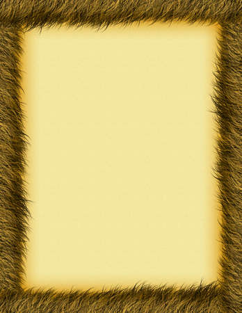 a textured burnt brown border and background