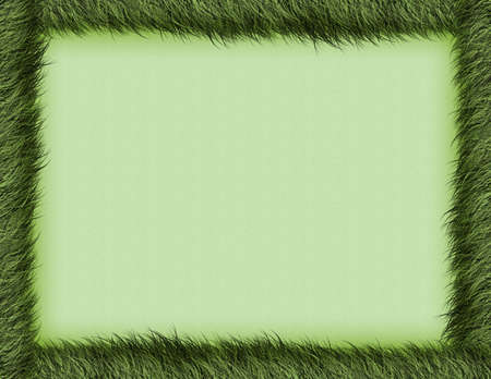 a textured burnt green border and background Stock Photo