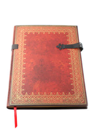 isolated decorative gold paged book used for writng photo