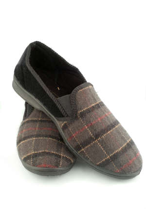 pair of comfortable, warm, and cozy mens slippers