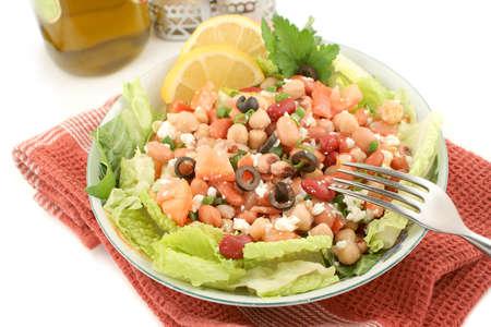 fresh and healthy mediterranean style bean salad Stock Photo - 750593